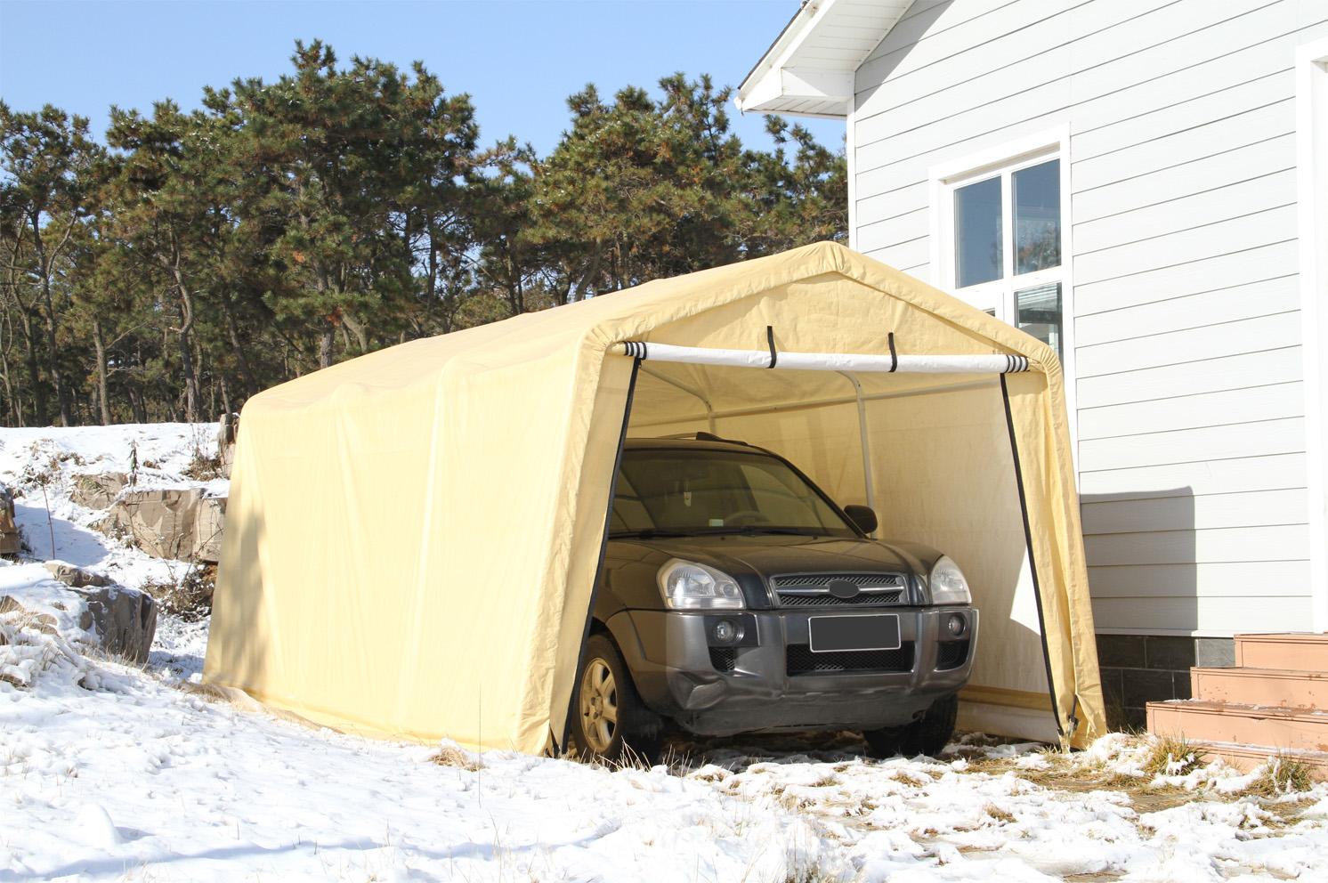Auto Storage Shelter 10 X17 Item 103 1398n